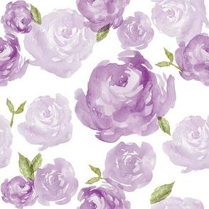 Purple Watercolor Floral