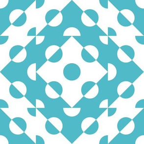 Mosaic Modernism (Circles-Teal Blue)