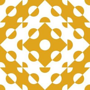 Mosaic Modernism (Circles-Gamboge)