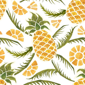 Pineapples. Tropical pattern