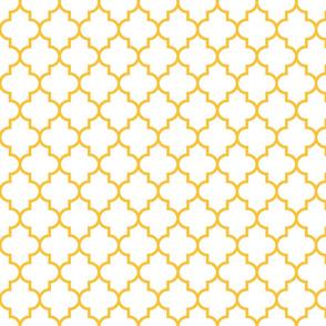 quatrefoil MED golden honey on white