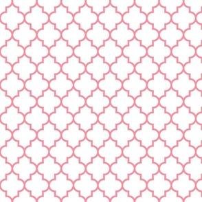 quatrefoil MED pretty pink on white