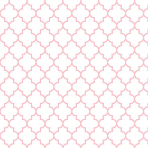 quatrefoil MED light pink on white