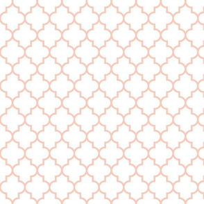 quatrefoil MED blush on white #F9CABA