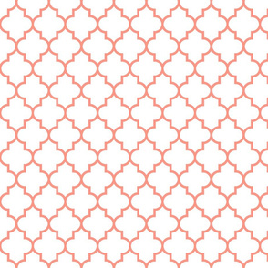 quatrefoil MED peach on white