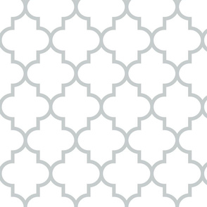 quatrefoil LG sterling grey on white