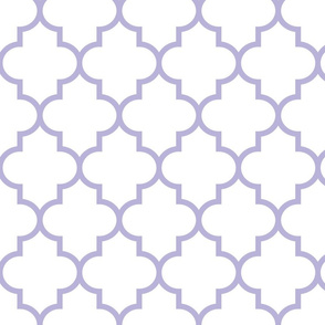 quatrefoil LG light purple on white