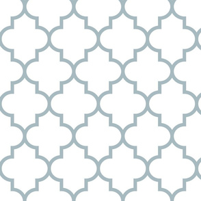 quatrefoil LG slate blue on white