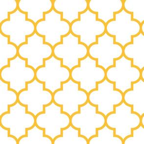 quatrefoil LG golden honey on white