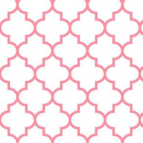 quatrefoil LG pretty pink on white