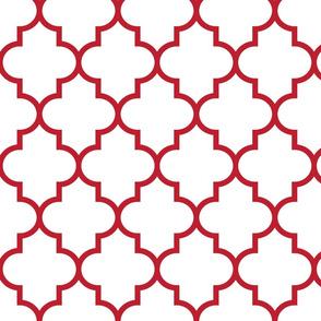 quatrefoil LG red on white