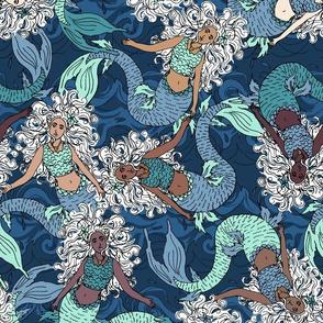 Mermaid Swirls