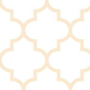 quatrefoil XL ivory on white