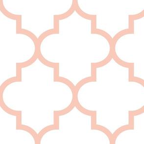quatrefoil XL blush on white #F9CABA
