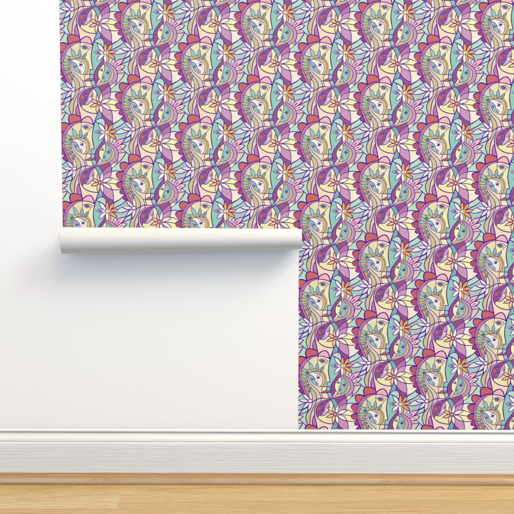 Isobar Durable Wallpaper featuring Sisterhood by lily_studio