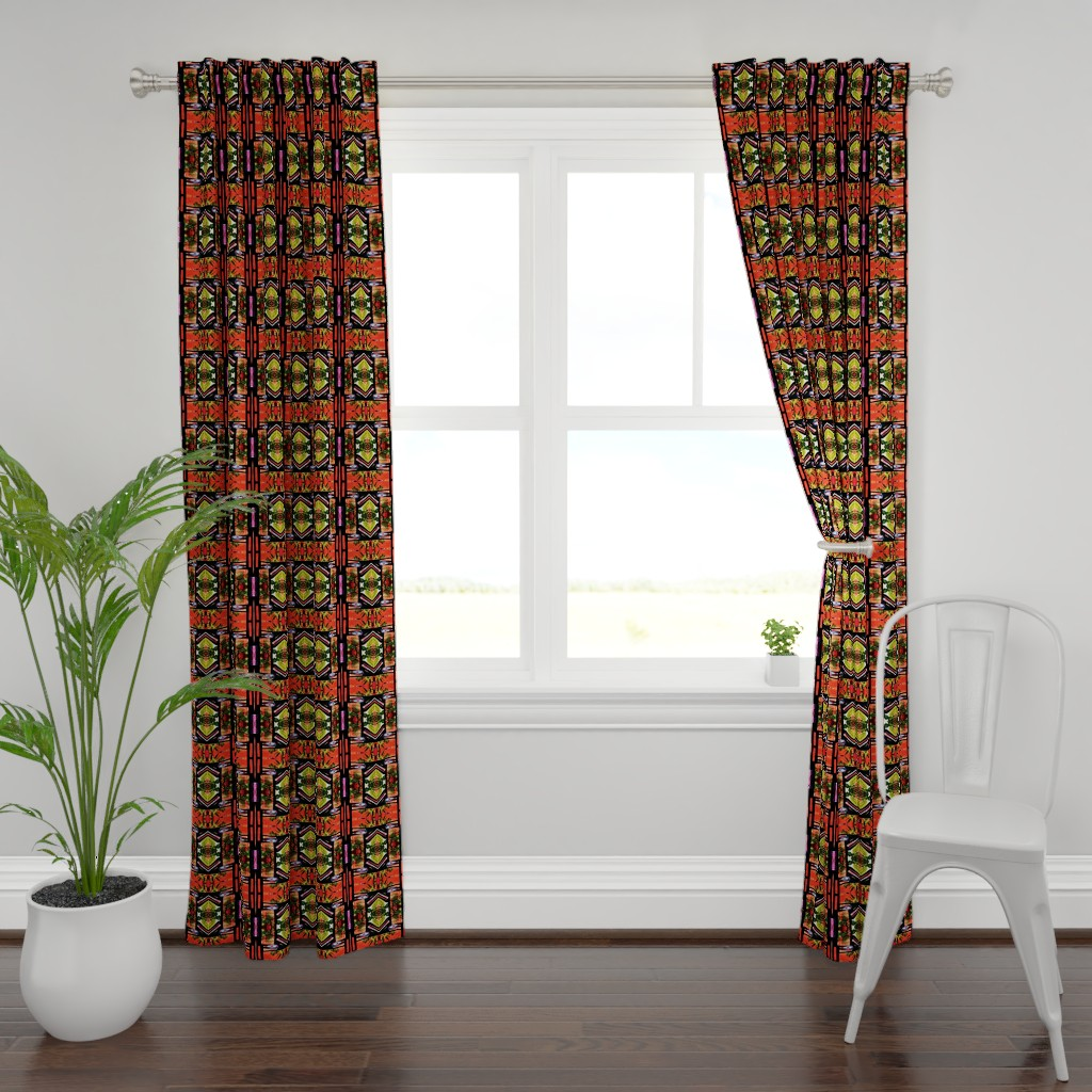 Plymouth Curtain Panel featuring Hatari 15 by tabasamu_design