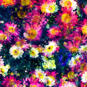 Painterly Daisies