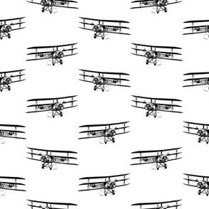Antique Triplane Airplane Vintage Aviation Pattern