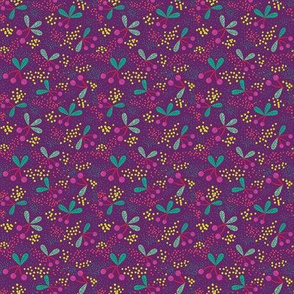 Cherries & Dots on Purple small