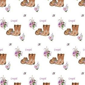 "2"" Cowgirl Lavender Florals"