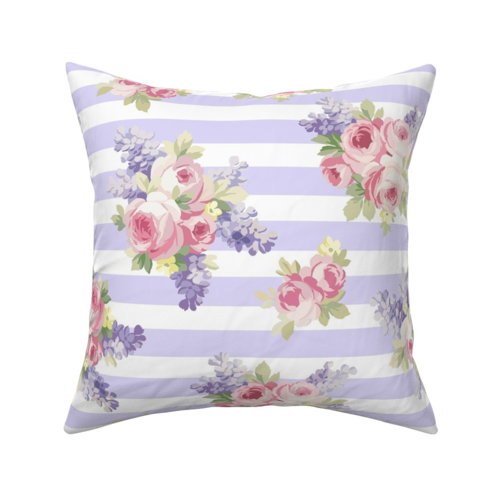 Catalan Throw Pillow featuring Mae blue violet  by lilyoake