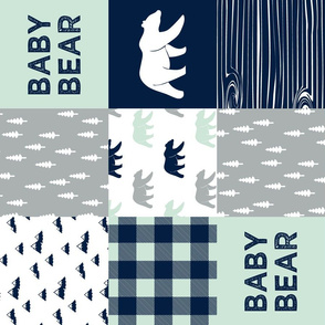 baby bear patchwork quilt top || the northern lights collection (90)