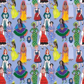Women of Earth in Cornflower Blue