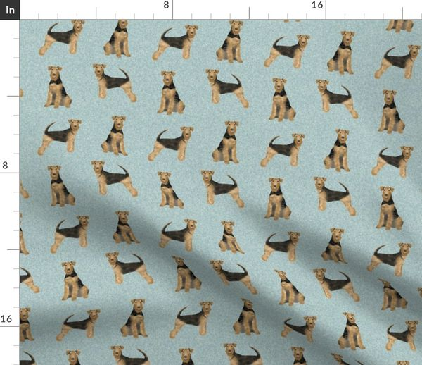 Fabric by the Yard airedale terrier dog breed pet quilt b quilt coordinates  dog fabric