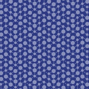 Deep Blue Purple Textured  Solid || Geometric Math Dots Spots White _ Miss Chiff Designs