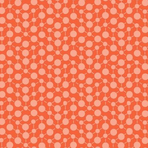 Coral Orange Solid || Geometric Texture Dots Spots Peach White Baby Girl _ Miss Chiff Designs