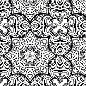 Monochrome Kaleidoscope 4 B (larger scale)