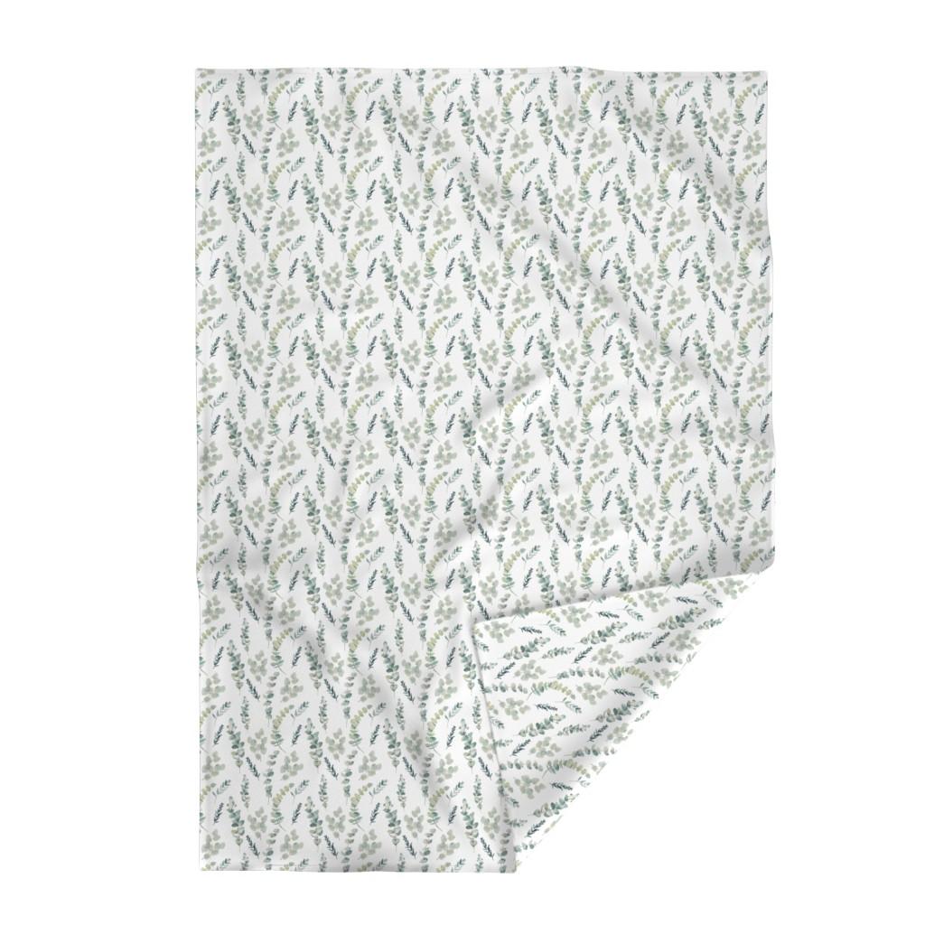 Lakenvelder Throw Blanket featuring Silver Dollar Eucalyptus by hipkiddesigns