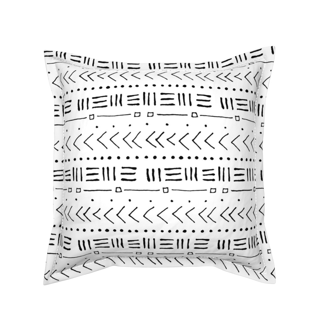 Serama Throw Pillow featuring Tribal Bands // Large by thinlinetextiles
