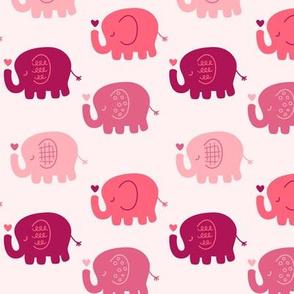 Elephants | Pink