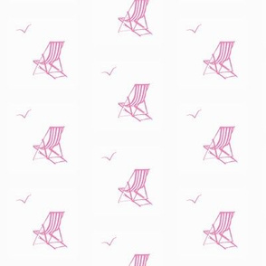 deckchair pink// deckchair fabric, pink white, ocean, nautical fabric