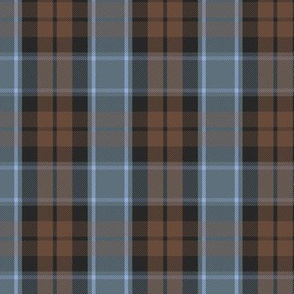 "Graham of Menteith tartan, 3"" weathered, reversed colors"