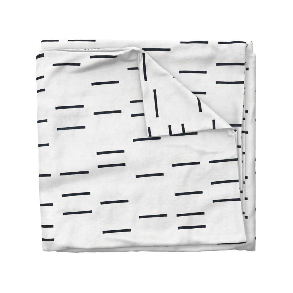 Wyandotte Duvet Cover featuring DENIM LINE WHITE MUDCLOTH ROTATED by holli_zollinger