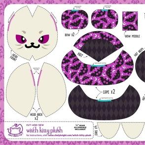 Cut & Sew Witch Kitty Plush Bats