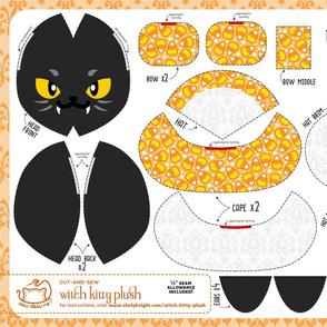 Cut & Sew Witch Kitty Plush Candy Corn