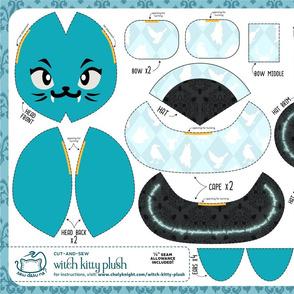 Cut & Sew Witch Kitty Plush Dark Magic Defense