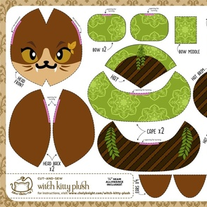 Cut & Sew Witch Kitty Plush Herbology