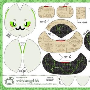Cut & Sew Witch Kitty Plush Potions