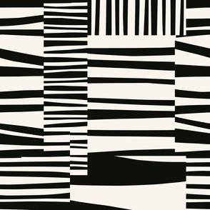 Twiggy Stripes, black, cream