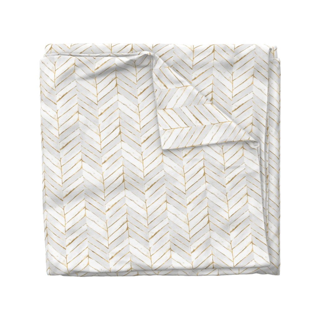 Wyandotte Duvet Cover featuring chevron painted white gold by crystal_walen