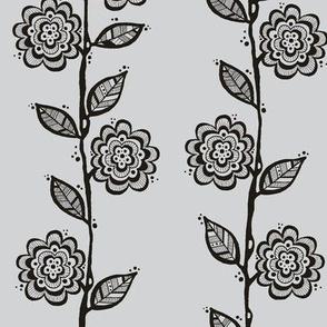 Silver Gray Grey Vines