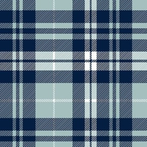 fall plaid - navy and dusty blue - farm patchwork coordinate