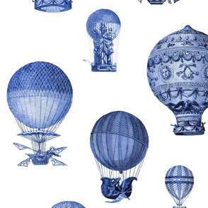 The History of Hot Air Balloons ~ Blue and White