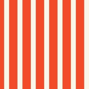 Stripe - Ivory, Red