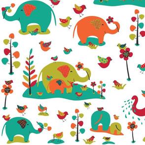 Happy Elephants (large )