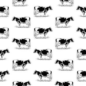 Vintage Holstein Cows